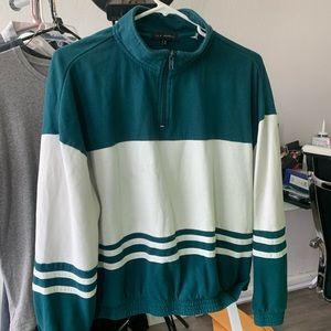 L.A. Hearts // neck zip block sweater